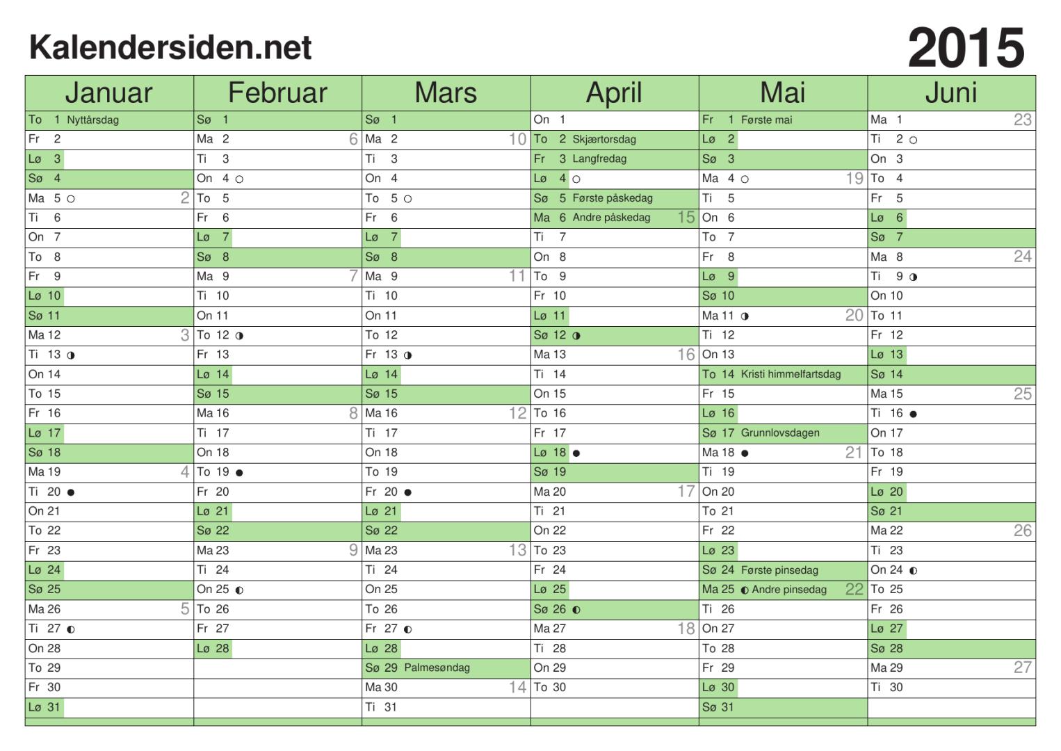 Kalendersiden